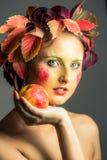 Jesieni dziewczyna Zdjęcie Stock