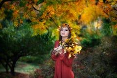 Jesieni dziewczyna Zdjęcia Stock