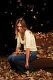 Jesieni dziewczyna Obraz Stock