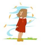 Jesieni dziewczyna Zdjęcie Royalty Free