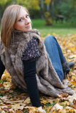 Jesieni dziewczyna Fotografia Royalty Free