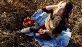 Jesieni dziewczyna Obrazy Stock