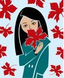 jesieni dziewczyna ilustracja wektor