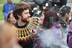 Jesieni Equninox świętowania przy Stonehenge Zdjęcie Royalty Free