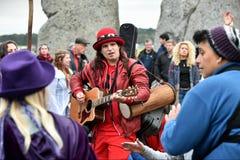 Jesieni Equninox świętowania przy Stonehenge Zdjęcia Stock