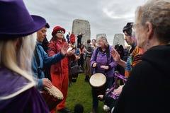 Jesieni Equninox świętowania przy Stonehenge Obraz Royalty Free