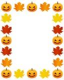 Jesieni fotografii rama Zdjęcia Stock
