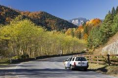 Jesieni góry droga Fotografia Stock