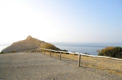 Jesieni góry i morze krajobraz Zdjęcie Royalty Free