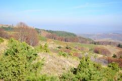Jesieni góry i niebieskie niebo krajobraz Obrazy Stock