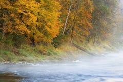 Jesieni Gauja rzeka w Sigulda Obraz Royalty Free