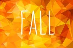 Jesieni geometryczny tło Zdjęcia Stock