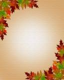 jesieni granicy spadku ramy liście ilustracji