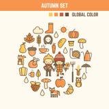 Jesieni i spadku infographic elementy Zdjęcie Royalty Free