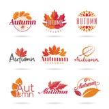 Jesieni ikony set Zdjęcia Stock