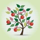 Jesieni jabłoń w fantazja stylu Graficzny element również zwrócić corel ilustracji wektora Obrazy Royalty Free