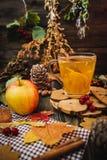 Jesieni jabłka herbata Zdjęcie Stock