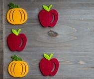 Jesieni jabłko i bania Fotografia Stock