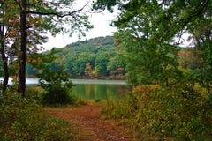 jesienią jeziora Obrazy Royalty Free