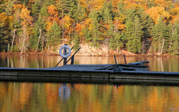 jesienią jeziora odbicia Zdjęcie Stock