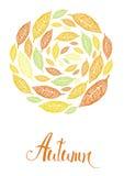 Jesieni karta Obrazy Stock