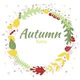 Jesieni kartka z pozdrowieniami w ręka rysującym stylu royalty ilustracja