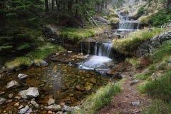 Jesieni kaskadowa rzeka Zdjęcia Royalty Free