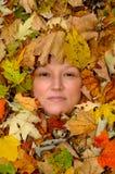 jesienią kobiety obrazy stock