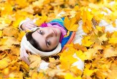 Jesieni koc Zdjęcia Royalty Free