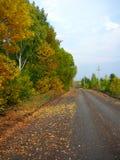 jesienią krajobrazu wiejskiego obraz royalty free