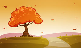 Jesieni kreskówki krajobraz Fotografia Stock