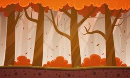 Jesieni kreskówki Lasowy tło Zdjęcie Royalty Free