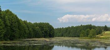 Jesieni lata krajobraz Zdjęcia Royalty Free