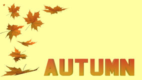 Jesieni literowanie i liście Fotografia Stock