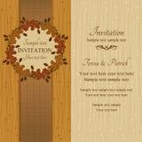 Jesieni lub lata zaproszenie brąz i beż, royalty ilustracja