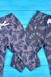 Jesieni lub wiosny bawełniani spodnia dla dzieciaków Obraz Stock