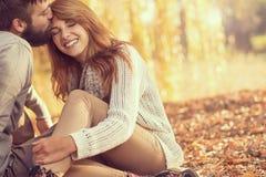 Jesieni miłość Obraz Royalty Free