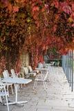 Jesieni miłość, romantyczna opróżnia miejsca zdjęcie stock