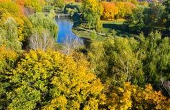 Jesieni miasta park Obrazy Royalty Free
