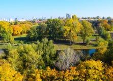 Jesieni miasta park Zdjęcia Stock