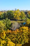 Jesieni miasta park Fotografia Royalty Free