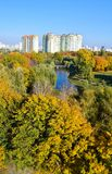 Jesieni miasta park Obrazy Stock