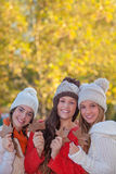 Jesieni moda i liście Obraz Royalty Free