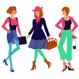 Jesieni mody dziewczyny set Zdjęcie Stock