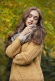 Jesieni mody piękno obraz royalty free