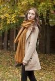 Jesieni mody piękno fotografia royalty free