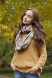 Jesieni mody piękno fotografia stock