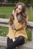 Jesieni mody piękno zdjęcie royalty free