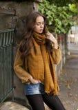 Jesieni mody piękno obrazy royalty free