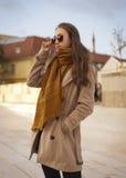 Jesieni mody piękno zdjęcia royalty free